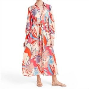 ALEXIS for Target Floral Long Sleeve Robe Dress